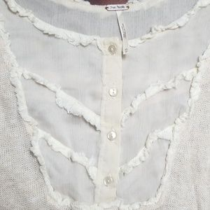 Free People Tops - Free people lightweight knit and gauze peasant top